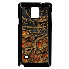 Unique Abstract Mix 1a Samsung Galaxy Note 4 Case (Black)