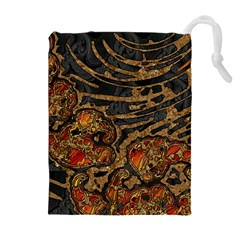 Unique Abstract Mix 1a Drawstring Pouches (Extra Large)