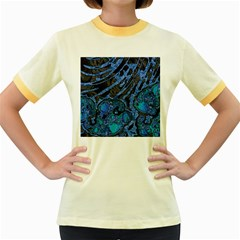 Unique Abstract Mix 1b Women s Fitted Ringer T-Shirts