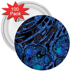 Unique Abstract Mix 1b 3  Buttons (100 pack)