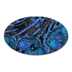 Unique Abstract Mix 1b Oval Magnet