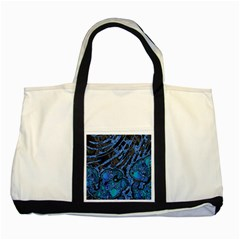 Unique Abstract Mix 1b Two Tone Tote Bag