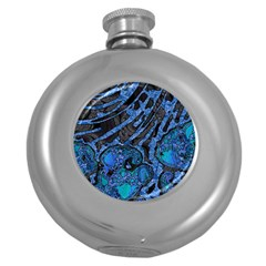Unique Abstract Mix 1b Round Hip Flask (5 oz)