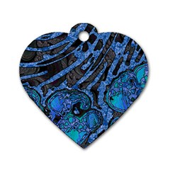 Unique Abstract Mix 1b Dog Tag Heart (Two Sides)