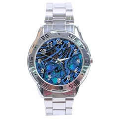 Unique Abstract Mix 1b Stainless Steel Analogue Watch