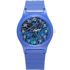 Unique Abstract Mix 1b Round Plastic Sport Watch (S)