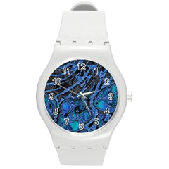Unique Abstract Mix 1b Round Plastic Sport Watch (M)