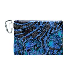 Unique Abstract Mix 1b Canvas Cosmetic Bag (M)