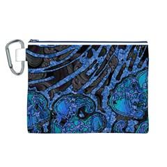 Unique Abstract Mix 1b Canvas Cosmetic Bag (L)