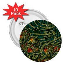 Unique Abstract Mix 1c 2.25  Buttons (10 pack)