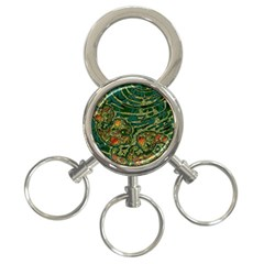 Unique Abstract Mix 1c 3-Ring Key Chains