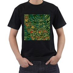 Unique Abstract Mix 1c Men s T-Shirt (Black) (Two Sided)