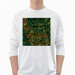 Unique Abstract Mix 1c White Long Sleeve T-Shirts