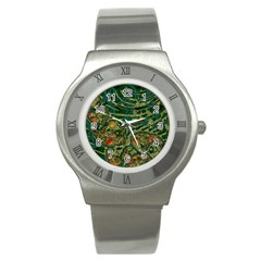 Unique Abstract Mix 1c Stainless Steel Watch