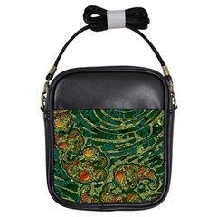 Unique Abstract Mix 1c Girls Sling Bags