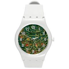 Unique Abstract Mix 1c Round Plastic Sport Watch (M)