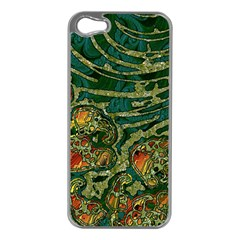 Unique Abstract Mix 1c Apple iPhone 5 Case (Silver)