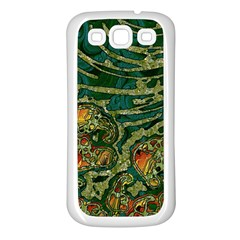 Unique Abstract Mix 1c Samsung Galaxy S3 Back Case (White)