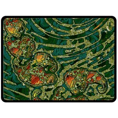Unique Abstract Mix 1c Double Sided Fleece Blanket (Large)