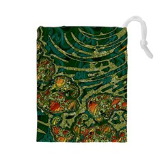 Unique Abstract Mix 1c Drawstring Pouches (Large)