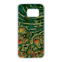 Unique Abstract Mix 1c Samsung Galaxy S7 White Seamless Case