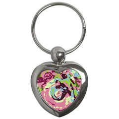 Abstract art Key Chains (Heart)