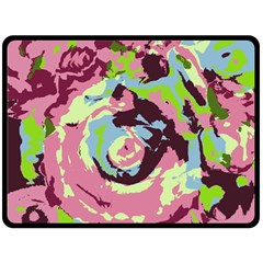 Abstract art Double Sided Fleece Blanket (Large)