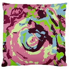 Abstract art Large Flano Cushion Case (One Side)