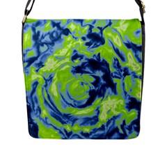 Abstract art Flap Messenger Bag (L)