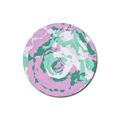 Abstract art Rubber Round Coaster (4 pack)