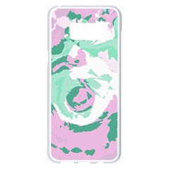 Abstract Art Samsung Galaxy S8 Plus White Seamless Case