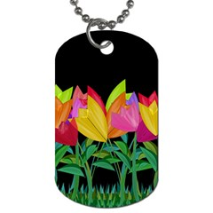 Tulips Dog Tag (One Side)