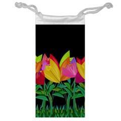 Tulips Jewelry Bag