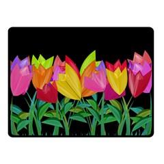 Tulips Double Sided Fleece Blanket (Small)
