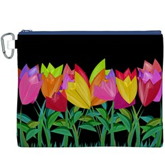 Tulips Canvas Cosmetic Bag (XXXL)