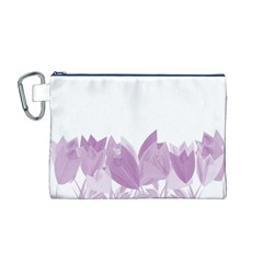 Tulips Canvas Cosmetic Bag (M)