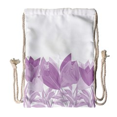 Tulips Drawstring Bag (Large)