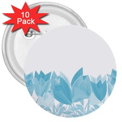 Tulips 3  Buttons (10 pack)