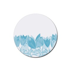 Tulips Rubber Round Coaster (4 pack)