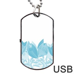Tulips Dog Tag USB Flash (One Side)