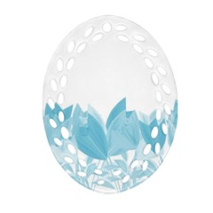 Tulips Oval Filigree Ornament (Two Sides)