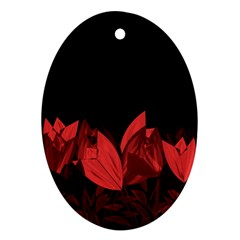 Tulips Ornament (Oval)