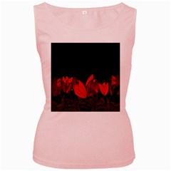 Tulips Women s Pink Tank Top