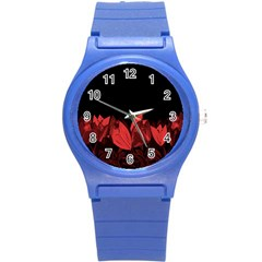 Tulips Round Plastic Sport Watch (S)