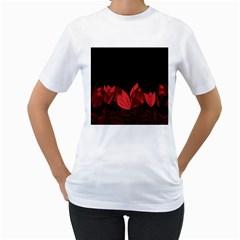Tulips Women s T-Shirt (White)