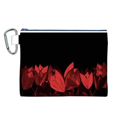 Tulips Canvas Cosmetic Bag (L)