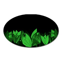 Tulips Oval Magnet