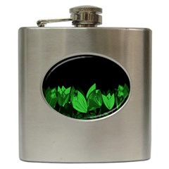 Tulips Hip Flask (6 oz)