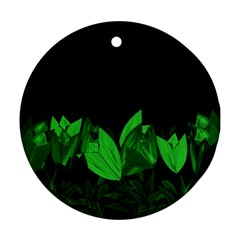 Tulips Round Ornament (Two Sides)