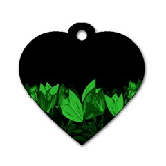Tulips Dog Tag Heart (One Side)